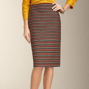 Talbots Rainbow Striped Pencil Skirt size 16